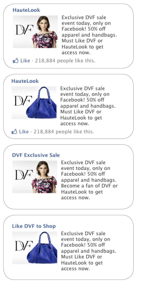 Facebook - ecommerce hautelook