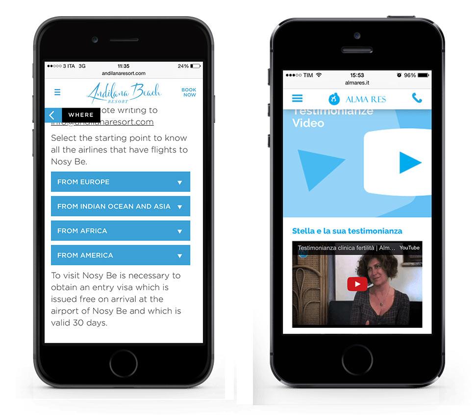 Esempi design menu mobile