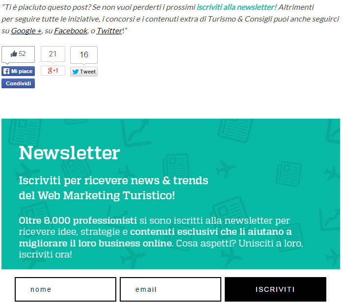 form newsletter lead generation