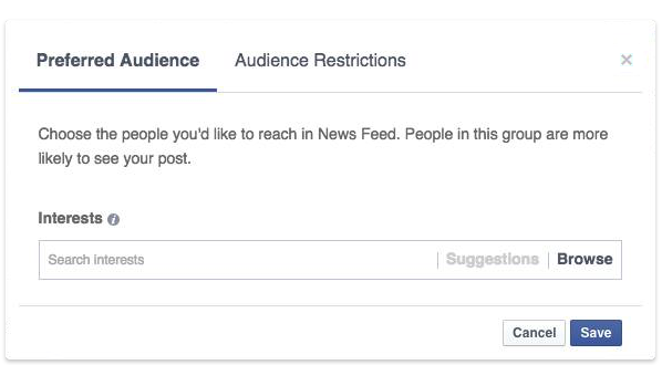 Facebook Audience Optimization Preferred