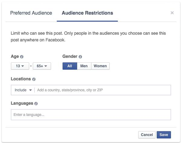 Facebook Audience Optimization Restricted