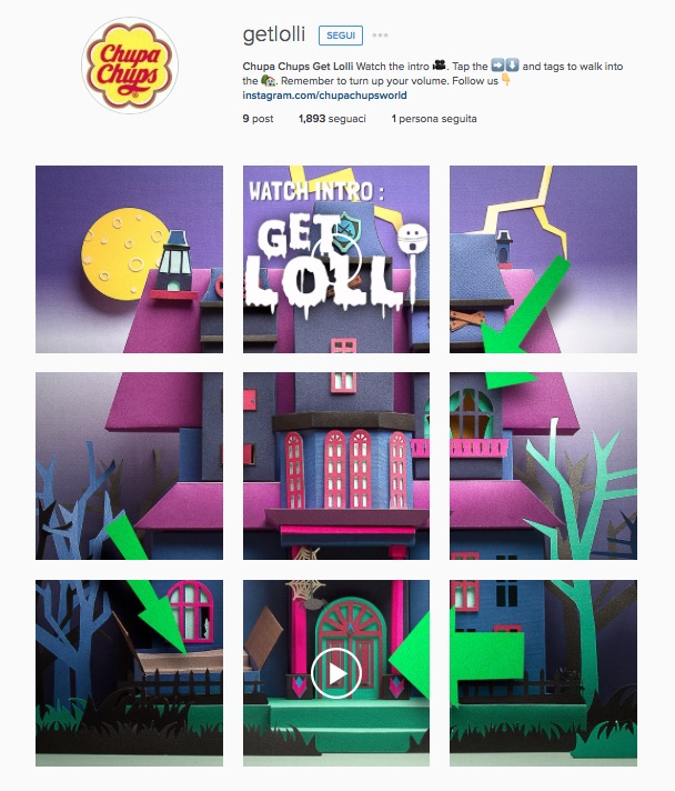 Chupa Chups Get Lolli Instagram Advertising