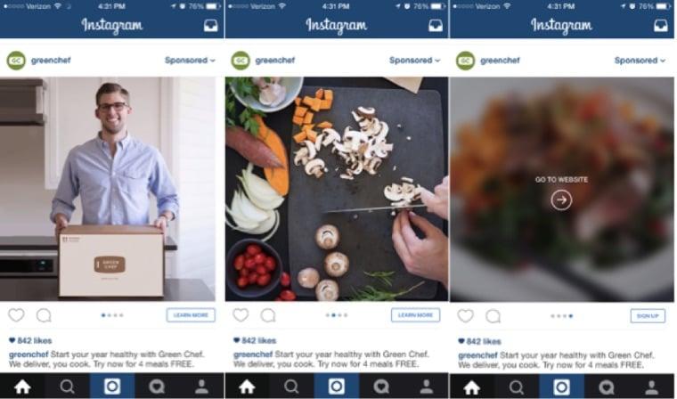 Instagram Advertising Carousel