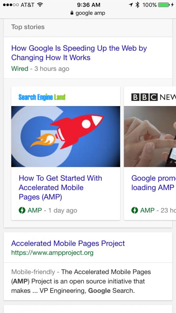 New Google AMP