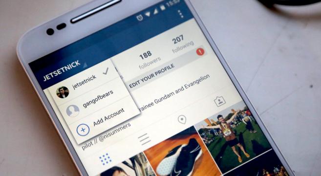 Cambiare account Instagram App