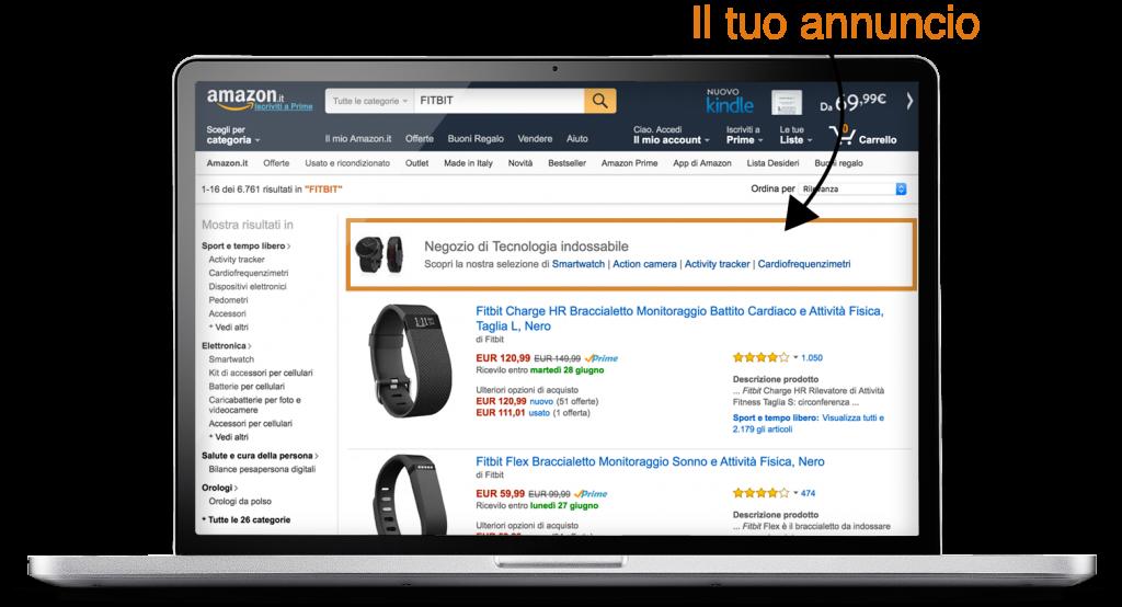 amazon advertising esempio annuncio a pagamento