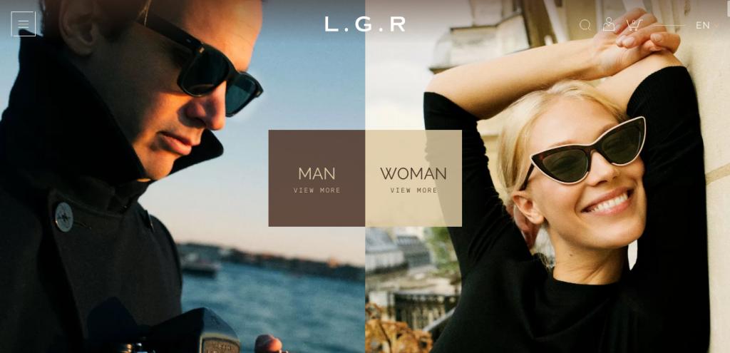 L G R - Sunglasses - caso studio eCommerce occhiali