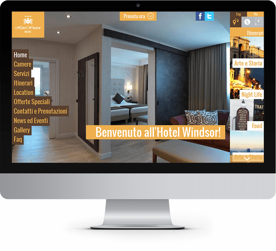 Windsor Hotel Milano Sviluppo Sito Responsive
